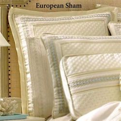 Verbena Tailored European Sham Pearl