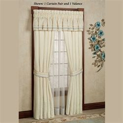 Verbena Tailored Curtain Pair Pearl 98 x 84