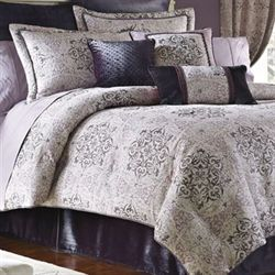 Nomad 4 pc Comforter Set Platinum Gray