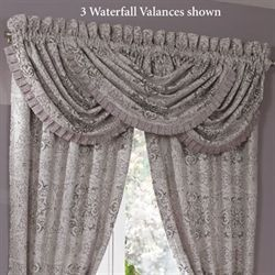 Nomad Waterfall Valance Platinum Gray 48 x 33