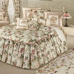 Floral Jubilee Grande Bedspread Light Cream