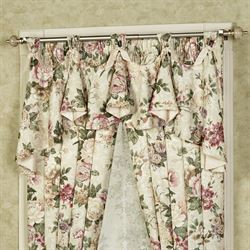 Floral Jubilee Austrian Valance Light Cream 60 x 29