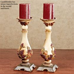 Fruitful Blessing Factory Second Candleholder Pair Multi Jewel Pair