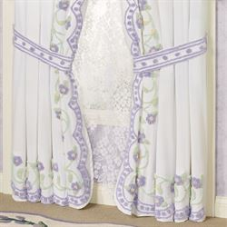 Cottage Garden Tailored Curtain Pair Lavender 84 x 84