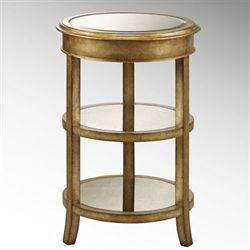 Aleah Accent Table Aged Gold