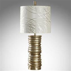 Maribel Swirl Table Lamp Gold