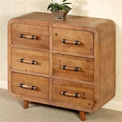 Matrend Six Drawer Cabinet Natural Oak