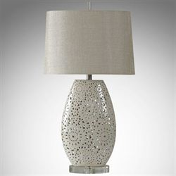 Wedding Lace Table Lamp Ivory