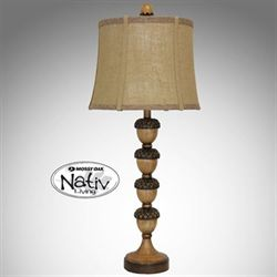 Stacking Acorn Table Lamp Multi Earth