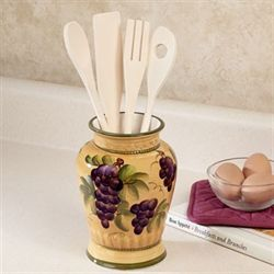 Bella Grapes Utensil Set Gold Set of Five