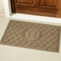 Abalynn Argyle Monogram Doormat 36 x 23