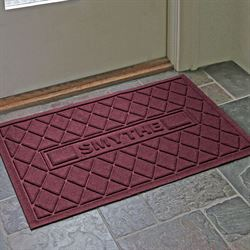 Abalynn Argyle Personalized Doormat 36 x 23