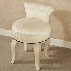Saraphina Upholstered Vanity Chair Ivory