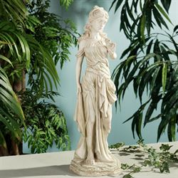 Amalthea Grecian Woman Sculpture Antique Cream Small