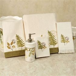 Foliage Garden Bath Towel Set Ivory Bath Hand Fingertip Wash