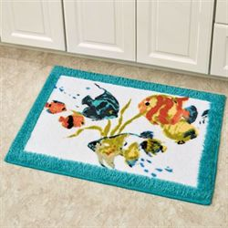 Rainbow Fish Bath Rug Multi Bright 20 x 30