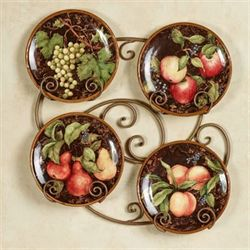 Capri Fruit Dessert Plates Multi Earth Set of Four