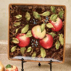 Capri Fruit Square Serving Platter Multi Earth