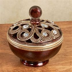 Kaelyn Decorative Covered Bowl Multi Metallic