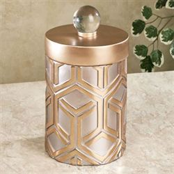 Declan Decorative Covered Jar Gold