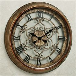Norton Wall Clock Antique Bronze