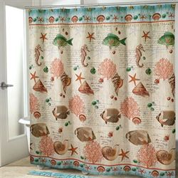 Seaside Vintage Shower Curtain Cream 72 x 72
