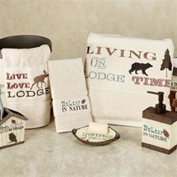 Live Love Lodge Bath Towel Set Ecru Bath Hand Fingertip