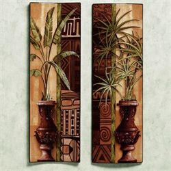 Tropical Palms Wall Panel