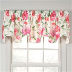 Ardynne Rose Scalloped Valance Light Cream 70 x 17