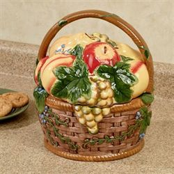 Capri Fruit Basket Cookie Jar Multi Earth