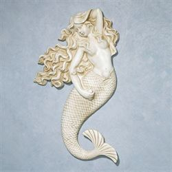 Mermaid Beauty Wall Art Antique Ivory