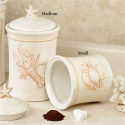 Relax Lobster Canister Ivory Medium