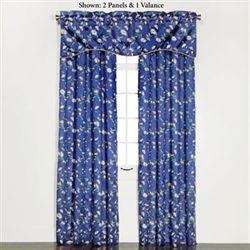 Wisteria Grommet Curtain Panel Blue 54 x 84