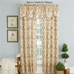 Wisteria Grommet Curtain Panel Cream 54 x 84