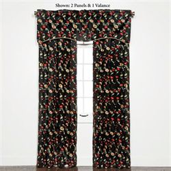 Wisteria Grommet Curtain Panel Onyx 54 x 84