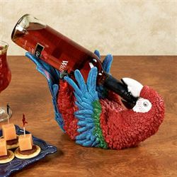 Playful Parrot Wine Bottle Holder Multi Bright