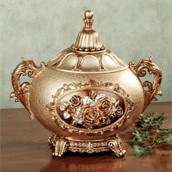 Golden Rose Covered Jar