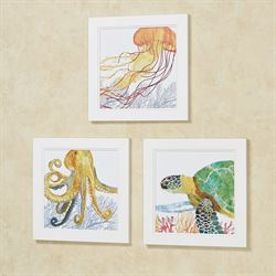 Under the Sea II Framed Wall Art Multi Bright Set of Three