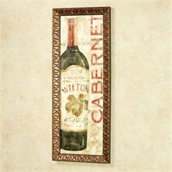 Wine Stucco II Framed Wall Art Multi Warm