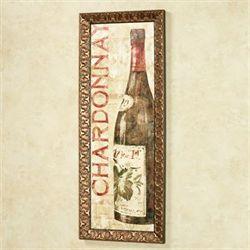 Wine Stucco I Framed Wall Art Multi Warm