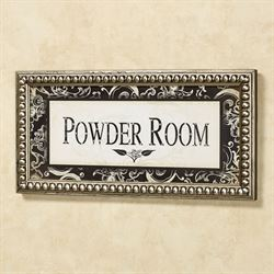 Powder Room Framed Wall Art Ivory Black