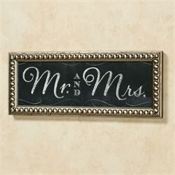 Mr and Mrs Framed Wall Art Black