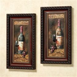 Wine Collection Framed Wall Art Multi Warm Set of Two