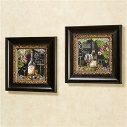 Cafe de Paris Framed Wall Art Multi Warm Set of Two