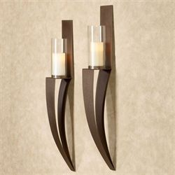 Landers Wall Sconces Rich Bronze Pair