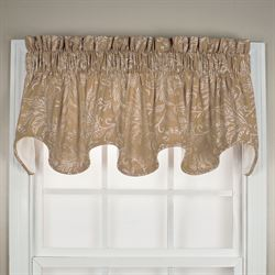 Whispering Leaves Scalloped Valance 70 x 16