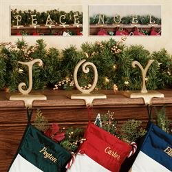 J O Y Stocking Holder Set