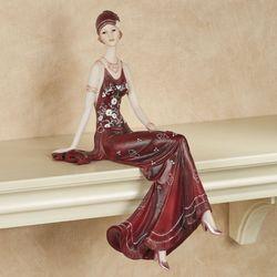 Alluring Beauty Shelf Sitter Burgundy