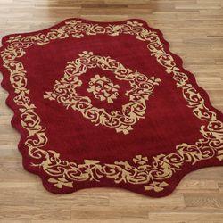 Palatial Wool Rectangle Rug Ruby