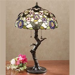 Take Flight Stained Glass Table Lamp with CFL Bulbs Multi Pastel Each with CFL Bulb